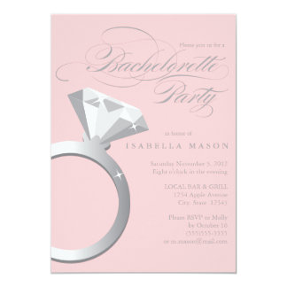 5 x 7 Engagement Ring   Bachelorette Party Invite