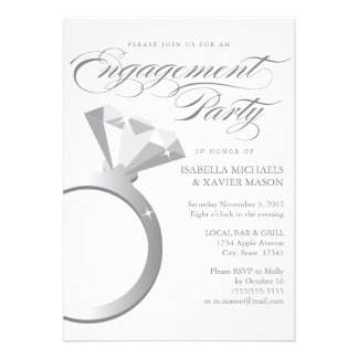 5 x 7 Engagement Ring | Engagement Party Invite