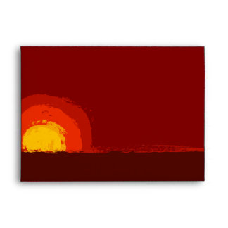 5 x 7  Envelope Option 2 Red Sunset in Africa