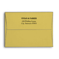 5 x 7 Gold Envelopes with Return Address