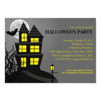 5 x 7 Haunted House | Halloween Party Invite