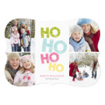 5 x 7 Ho Ho Ho Ho (colorful) | Holiday Photo Card Personalized Invitation
