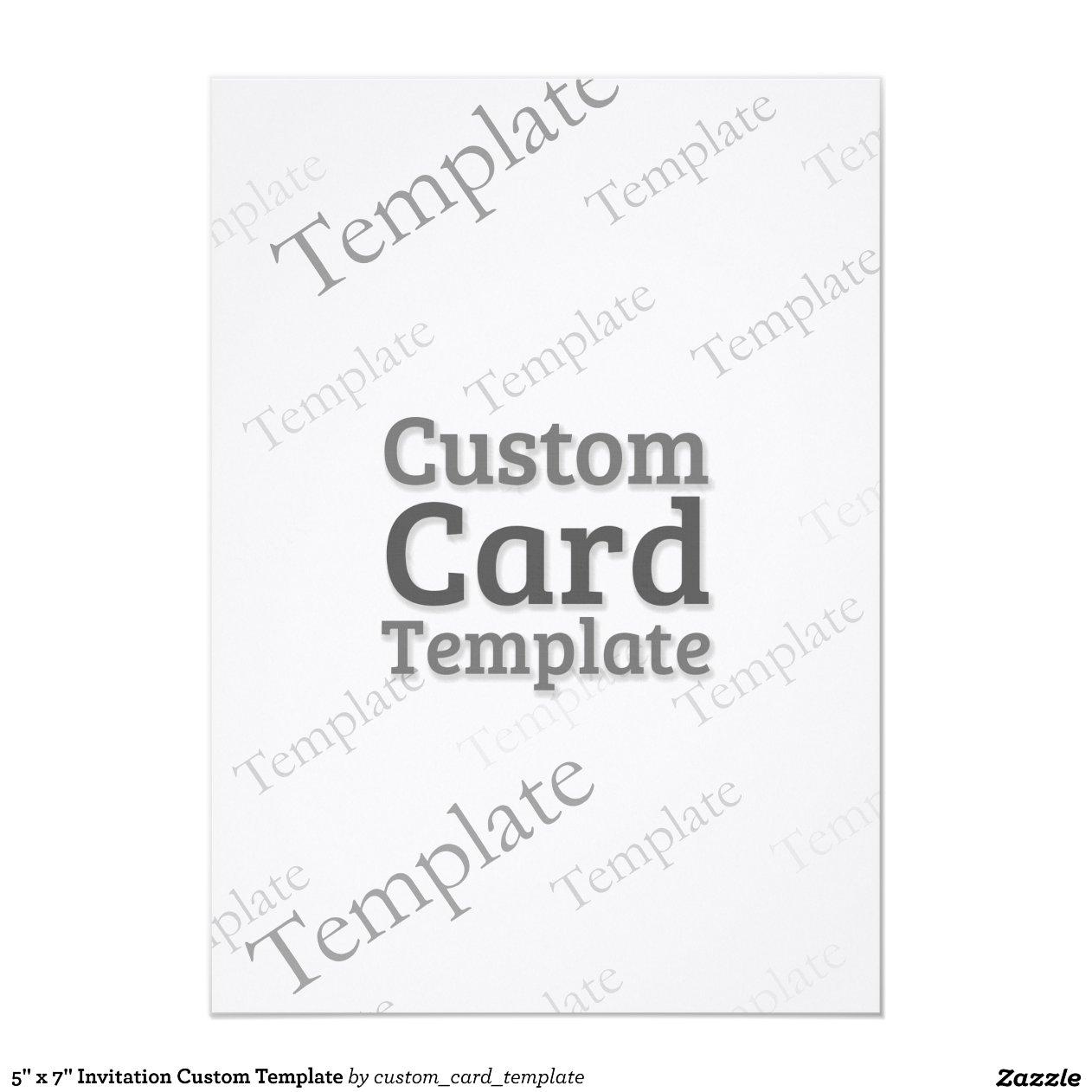 Invitation Custom Template 5u0026quot; X 7u0026quot; Invitation Card : Zazzle
