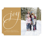 5 x 7 Joy (gold) | Holiday Photo Card Personalized Invites