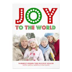 5 x 7 Joy To The World | Photo Holiday Card