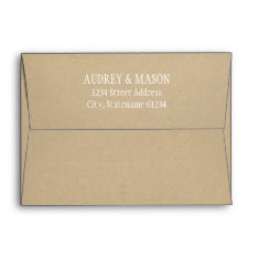 5 X 7 Kraft Mailing Envelope With Return Address at Zazzle