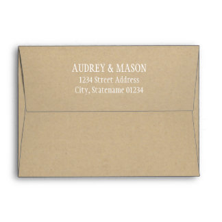 5 x 7 Kraft Mailing Envelope with Return Address