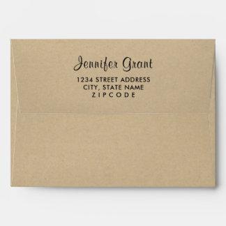 5 x 7 Kraft Mailing Envelope with Return Address