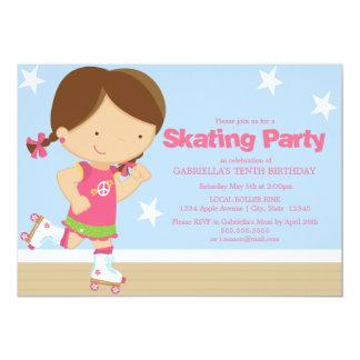 """5 x 7 la fiesta de cumpleaños patinadora del invitación 5"""" x 7"""""""