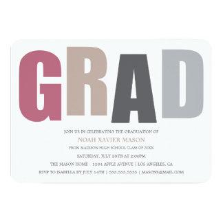 5 x 7 la fiesta de graduación del GRADUADO | Comunicado Personalizado