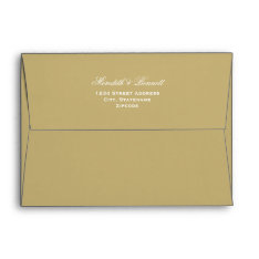 5 X 7 Light Antique Gold Envelopes Return Address at Zazzle