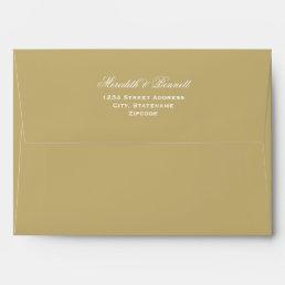 5 x 7 Light Antique Gold Envelopes Return Address