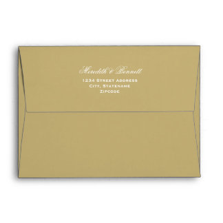 5 x 7 Light Antique Gold Envelopes Return Address