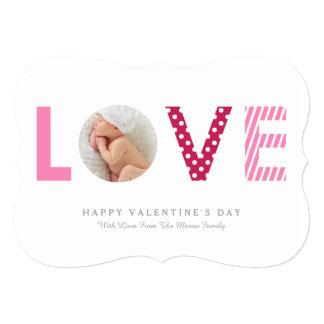 "5 x 7 LOVE | Valentine's Day Photo Card 5"" X 7"" Invitation Card"