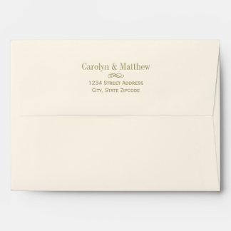 5 x 7 Mailing Envelope Antique Gold Return Address