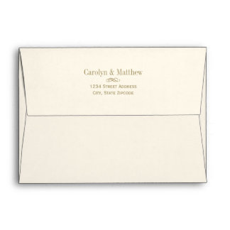 5 x 7 Mailing Envelope Antique Gold Return Address