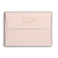 5 X 7 Mailing Envelopes With Gold Return Address at Zazzle