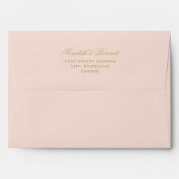 5 x 7 Mailing Envelopes with Gold Return Address