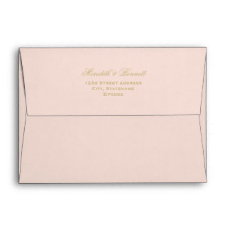5 x 7 Mailing Envelopes with Gold Return Address