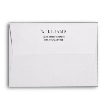 Plush_Paper 5 x 7 Mailing Envelopes with Return Address