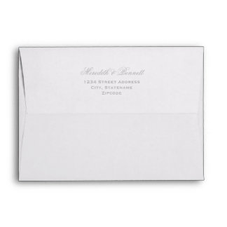 5 x 7 Mailing Envelopes with Silver Return Address