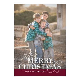 5 x 7 Merry Christmas Holiday Card