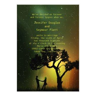 "5"" x 7"" Midnight Moonlight Couple Dance Invition Custom Invite"