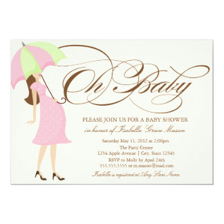 5 x 7 Oh Baby | Baby Shower Invite