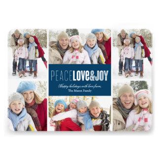 5 x 7 Peace Love Joy Photo Holiday Card
