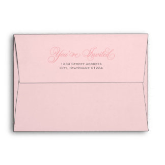 5 x 7 Pink Mailing Envelopes with Gray Address