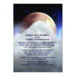 """5"""" x 7"""" planetas del espacio profundo que casan la invitación 12,7 x 17,8 cm"""