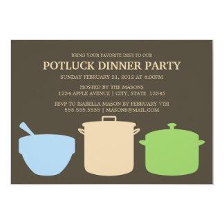 5 x 7 Potluck Dinner   Party Invite