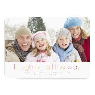 5 x 7 que ríen hasta el final la tarjeta del día anuncio