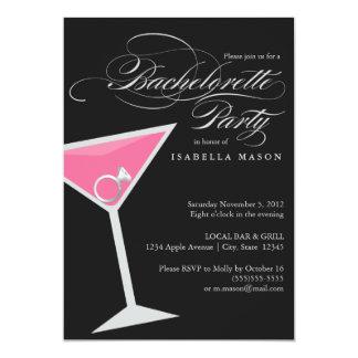 5 x 7 Ring In Cosmo   Bachelorette Party Invite