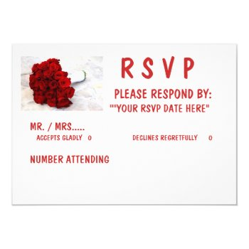 "5 X 7 Rsvp""  Standard White Envelopes Included Card by CREATIVEWEDDING at Zazzle"