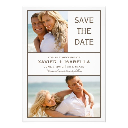 5 x 7 Save The Date Collage | Announcement