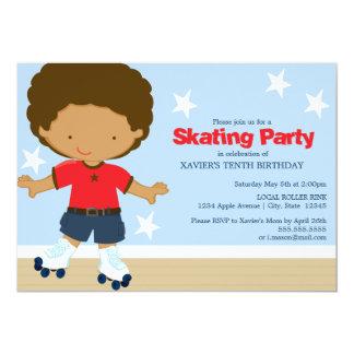 5 x 7 Skating Party   Birthday Party Invite