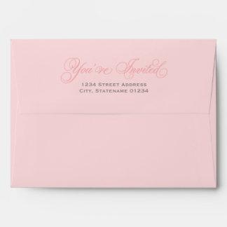 5 x 7 sobres de envío rosados con la dirección