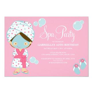 5 x 7 Spa Party   Party Invite