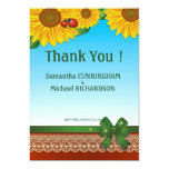 """5"""" x 7"""" Spring Summer Lady Bugs Sunflowers Card Invite"""