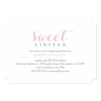 5 x 7 Sweet Sixteen   Birthday Party Invitation