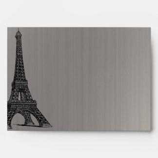 5 x 7 torre Eiffel negra de la opción 3 del sobre