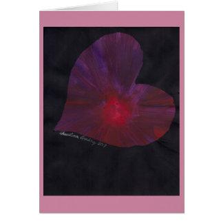 5 x 7 Valentine's Day Card Red/Purple Heart