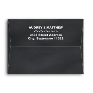 5 x 7 Vintage Black Chalkboard Return Address Envelope