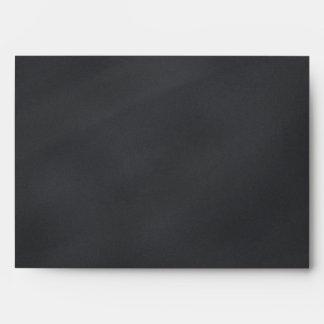 5 x 7 Vintage Black Chalkboard Return Address Envelope
