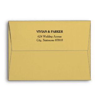 5 x 7 Warm Gold Envelopes with Return Address