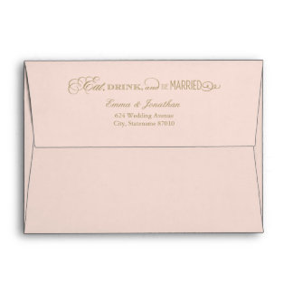 5 x 7 Wedding Envelopes | Eat Drink and Be Married