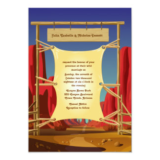 "5"" x 7"" Wild West Wedding Invitation"