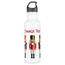 5 Xmas Nutcracker Toy Soldiers Water Bottle