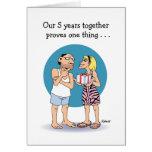 5 Year Anniversary Card: Love